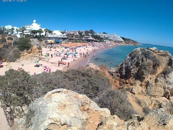 Popular tourist site Praia da Oura in Algarve