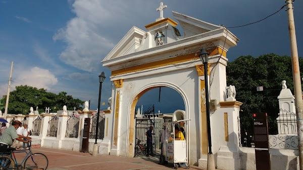 Popular tourist site Parque San Miguel in Santa Marta