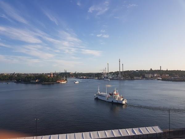 Popular tourist site Fjällgatan View point in Stockholm