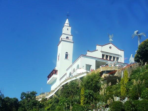 Popular tourist site Sanctuary of Monserrate in Bogota
