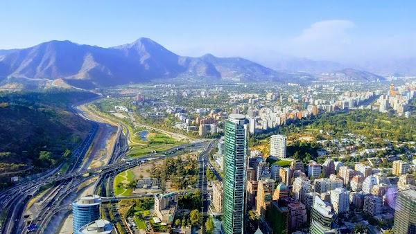 Popular tourist site Costanera Center in Santiago