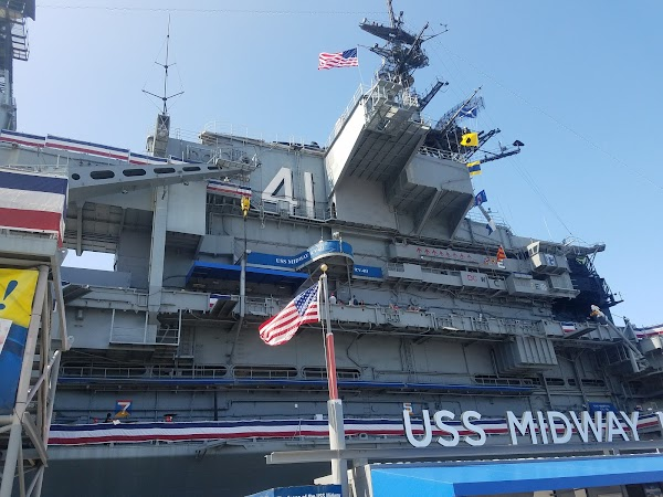 Popular tourist site USS Midway Museum in San Diego