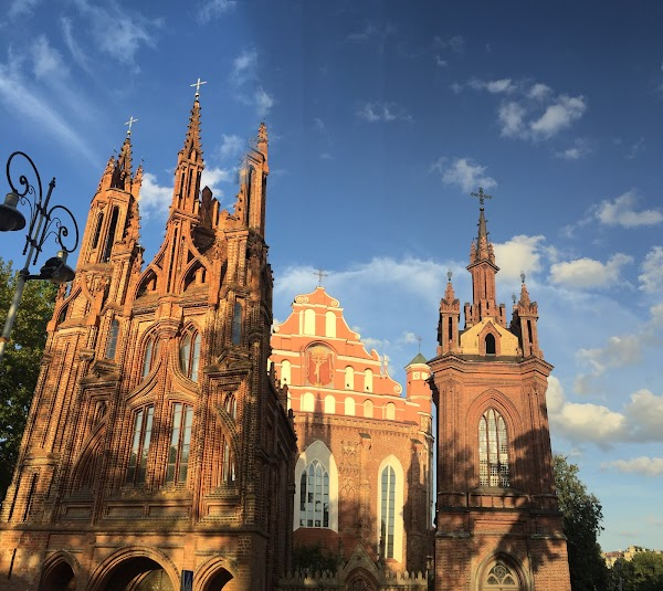 Popular tourist site St. Anne's Church in Vilnius