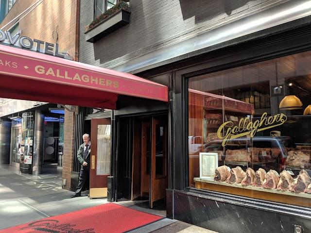 Gallaghers Steakhouse banner backdrop