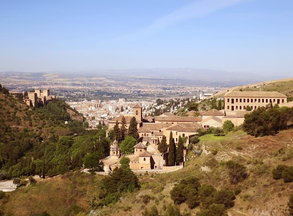 Popular tourist site Abadía del Sacromonte in Granada