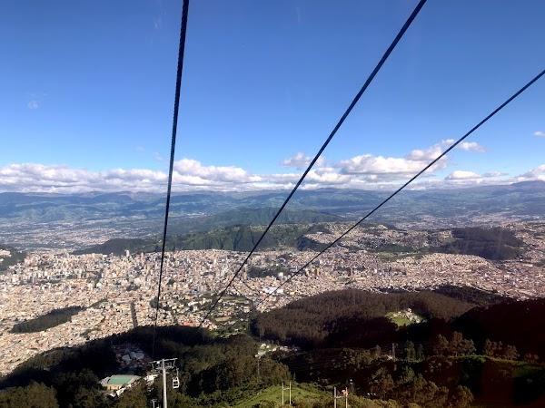 Popular tourist site TelefériQo in Quito