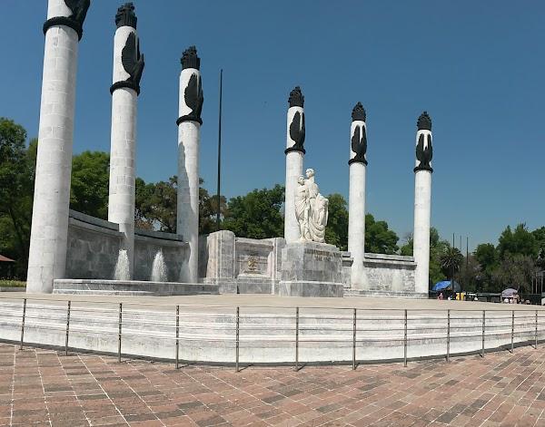 Popular tourist site Bosque de Chapultepec in Mexico City