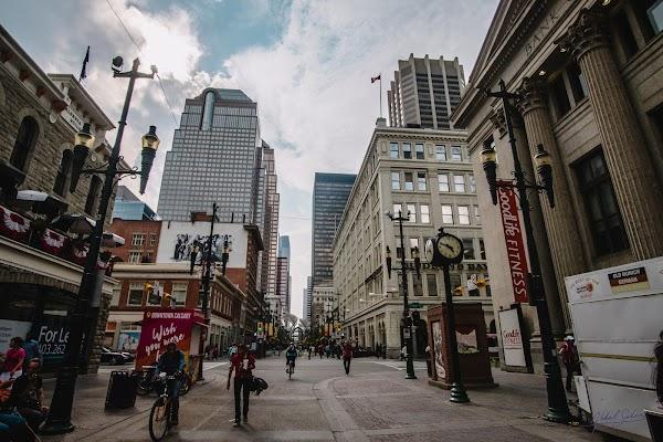 Popular tourist site Stephen Avenue Walk in Calgary