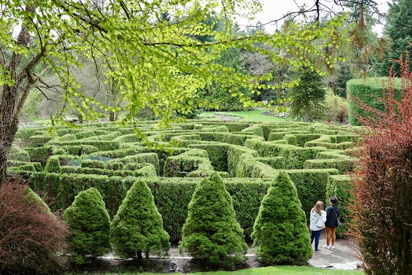 Popular tourist site VanDusen Botanical Garden in Vancouver