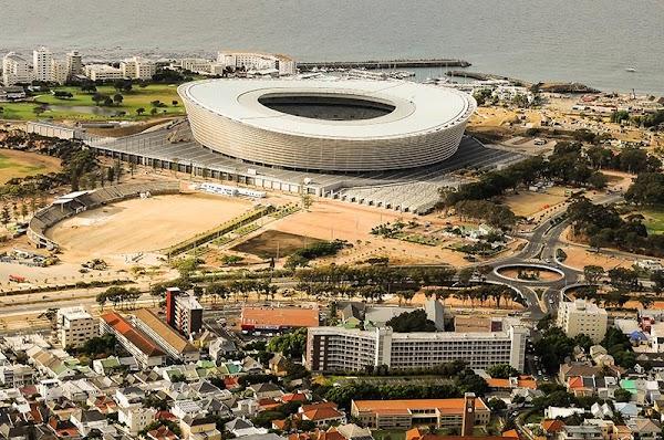Popular tourist site Cape Town Stadium in Cape Town