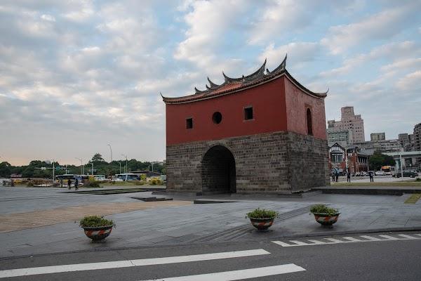 Popular tourist site The North Gate in Taipei