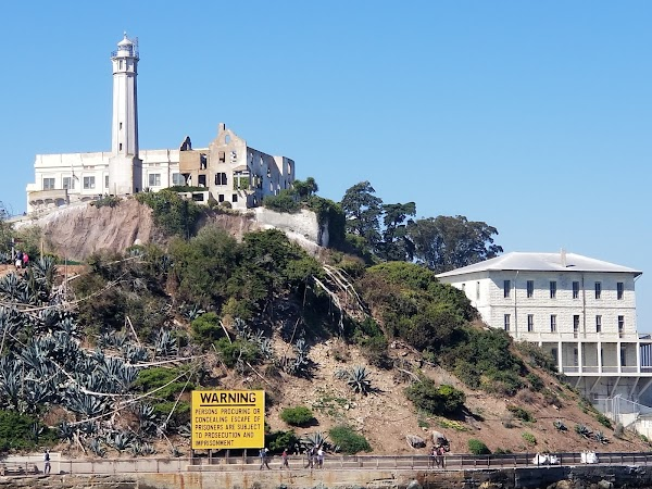 Popular tourist site Alcatraz Island in San Francisco