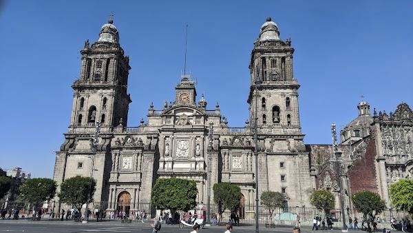 Popular tourist site Zócalo in Mexico City