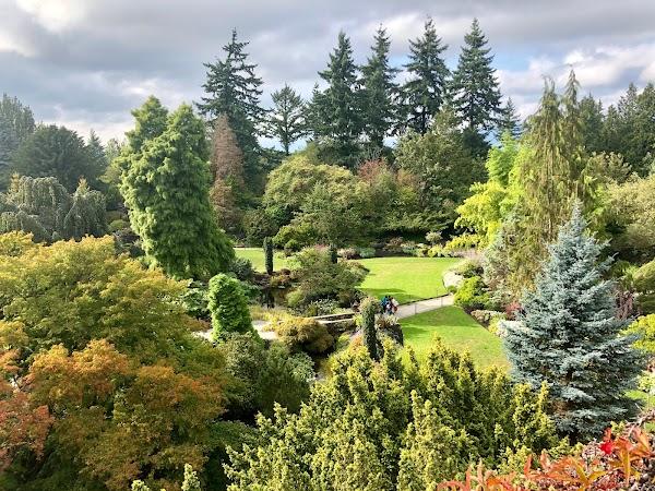 Popular tourist site Queen Elizabeth Park in Vancouver