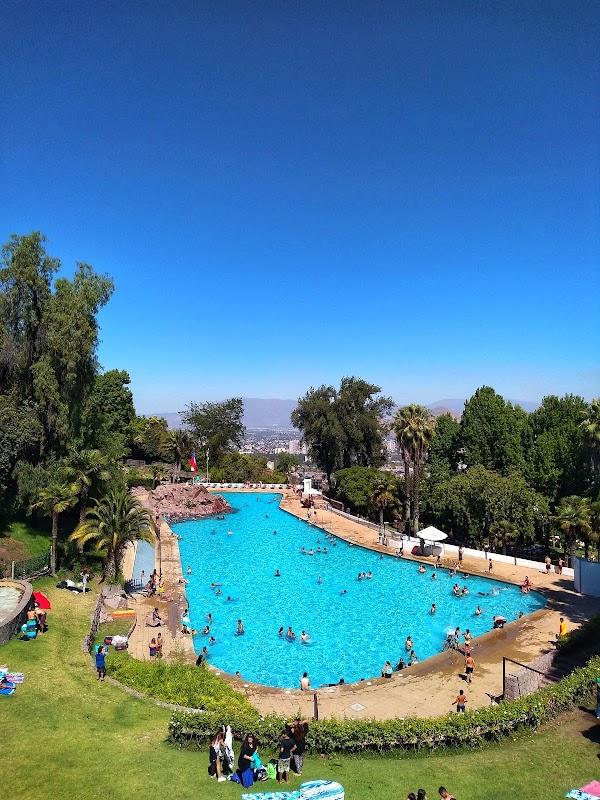Popular tourist site Parque Tupahue in Santiago