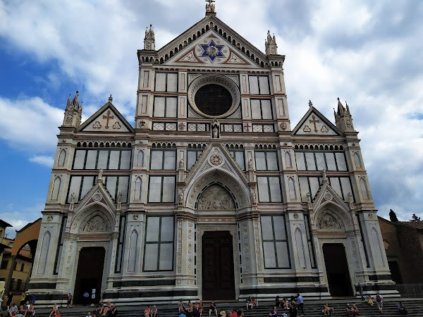 Popular tourist site Basilica of Santa Croce in Florence in Florence