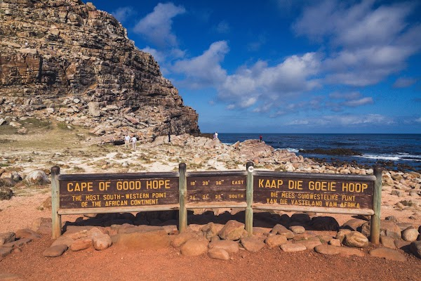 Popular tourist site Cape of Good Hope in Cape Town