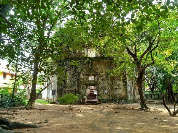 Popular tourist site Pallippuram Fort in Cochin