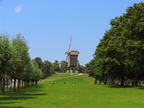 Popular tourist site Sint-Janshuismolen in Bruges