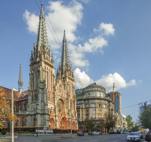 Popular tourist site St. Nicholas Roman Catholic Cathedral in Kyiv