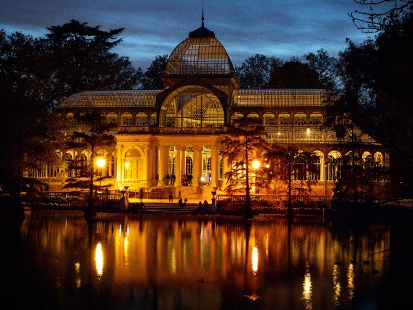 Popular tourist site Palacio de Cristal in Madrid