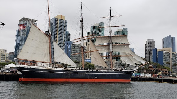 Popular tourist site Maritime Museum of San Diego in San Diego