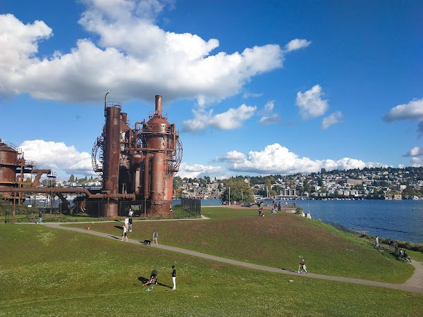 Popular tourist site Gas Works Park in Seattle