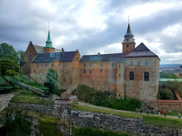 Popular tourist site Akershus Fortress in Oslo