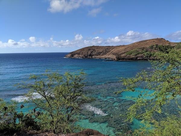 Popular tourist site Hanauma Bay in Honolulu