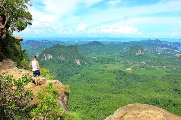 Popular tourist site Dragon Crest (Khuan Sai) in Krabi