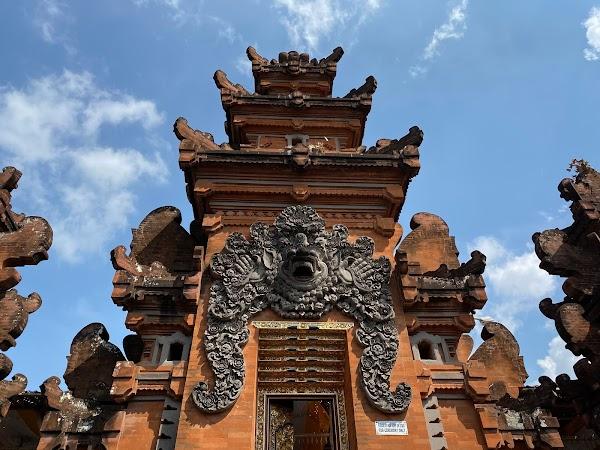 Popular tourist site Masceti Temple in Canggu
