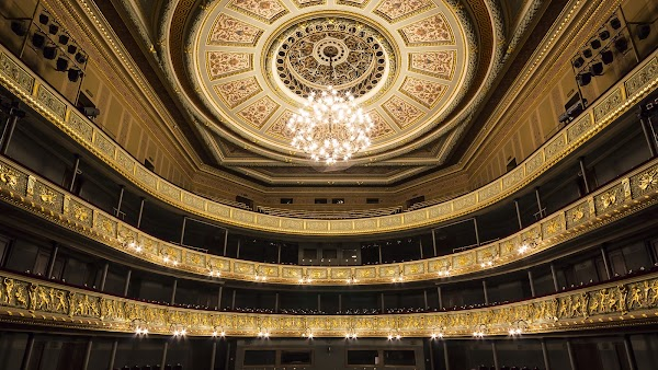Popular tourist site Latvian National Opera in Riga
