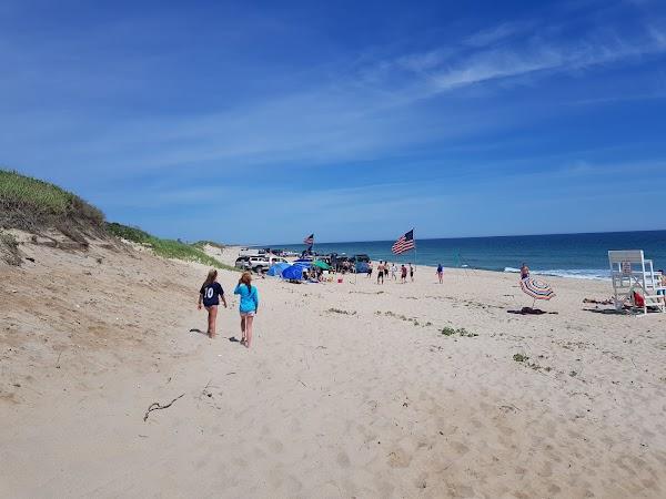 Popular tourist site Nobadeer Beach in Nantucket