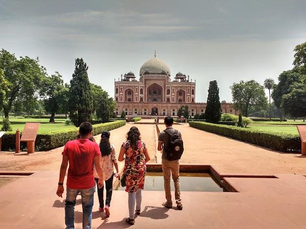 Popular tourist site Humayun's Tomb in New Delhi