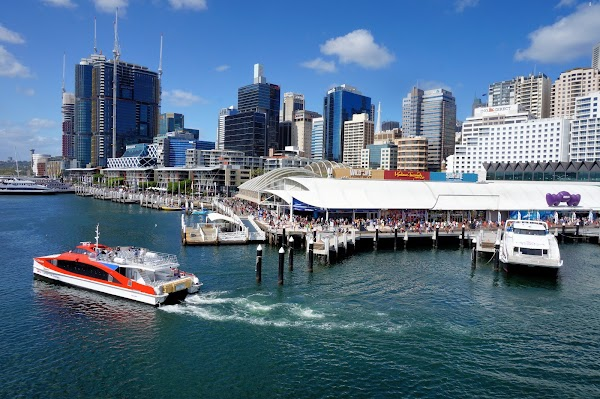 Popular tourist site Darling Harbour in Sydney
