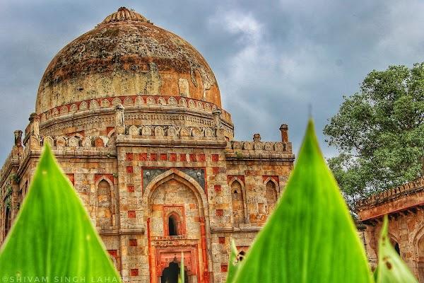Popular tourist site Lodhi Garden in New Delhi