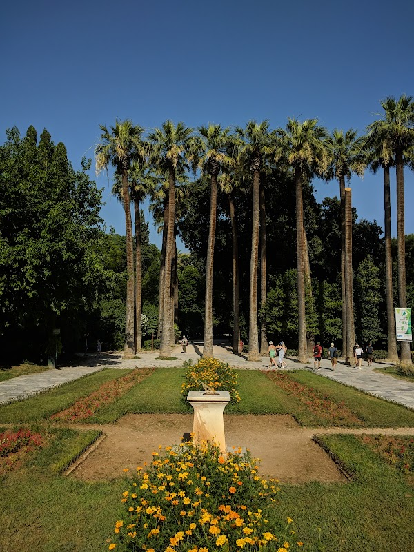 Popular tourist site National Garden in Athens