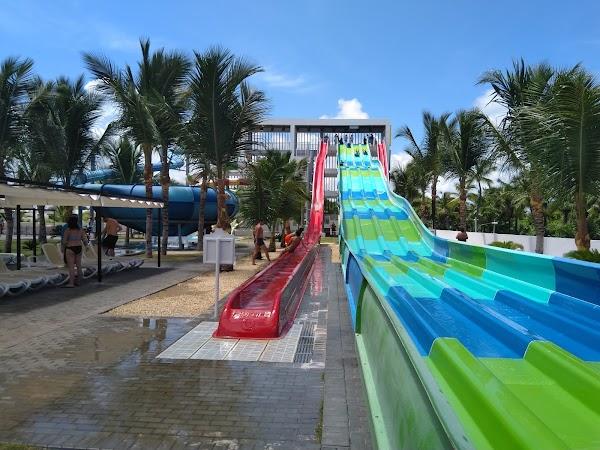 Popular tourist site Splash Water Park - RIU Resort in Punta Cana