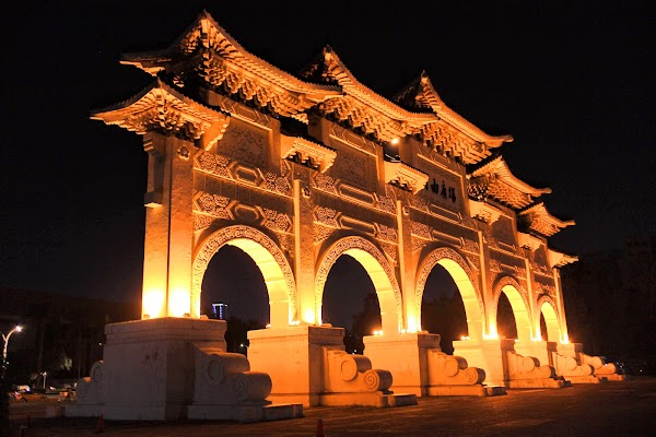 Popular tourist site Liberty Square Arch in Taipei