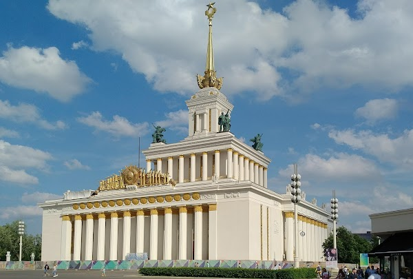 Popular tourist site All-Russian Exhibition Center in Moscow