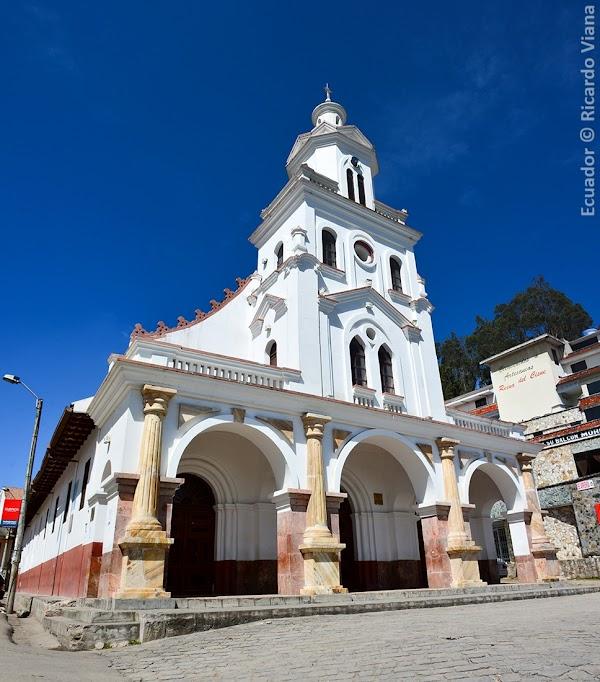 Popular tourist site Church of Turi in Cuenca