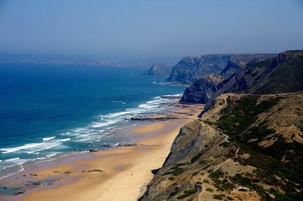 Popular tourist site Praia da Cordoama in Algarve