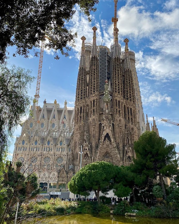 Popular tourist site La Sagrada Familia in Barcelona