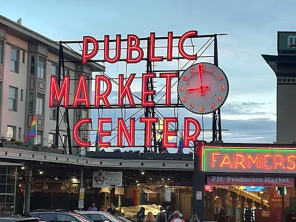 Popular tourist site Pike Place Market in Seattle