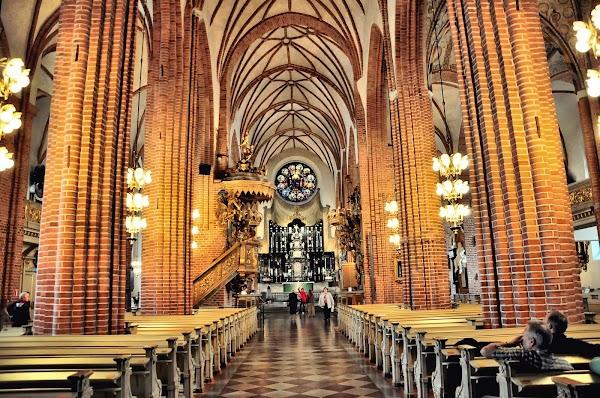 Popular tourist site Storkyrkan in Stockholm