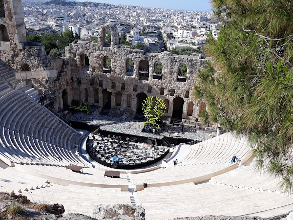 Popular tourist site Odeon of Herodes Atticus in Athens