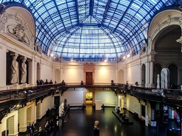 Popular tourist site National Museum of Fine Arts in Santiago