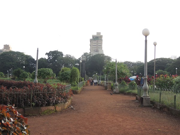 Popular tourist site Hanging Gardens in Mumbai