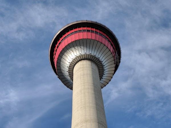 Popular tourist site Calgary Tower in Calgary