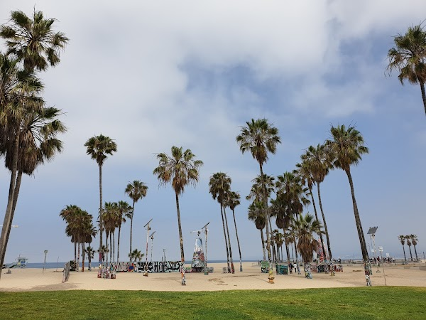 Popular tourist site Venice Beach Boardwalk in Los Angeles